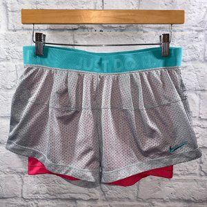 Nike Icon 2-in-1 Mesh Workout Shorts • Sz S